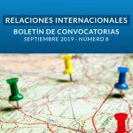 Boletín de Convocatorias Internacionales: Septiembre de 2019