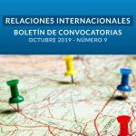 Boletín de Convocatorias Internacionales: Octubre 2019
