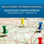 Boletín de Convocatorias Internacionales: Noviembre