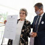 """Honoris Causa a Delia Giovanola: """"Nieto, empezá a decirme Doctora"""""""