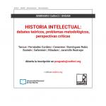 Historia intelectual: debates teóricos, problemas metodológicos, perspectivas críticas, el nuevo seminario de posgrado del CeDInCI